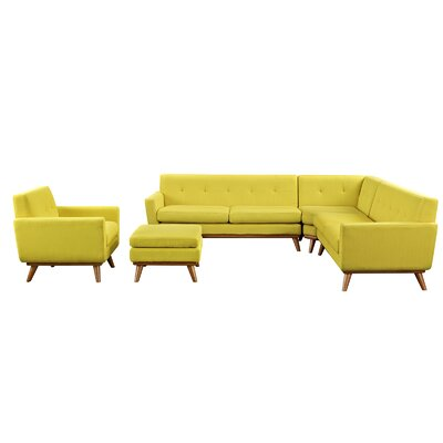 Saginaw 5 Piece Living Room Set Upholstery: Sunny