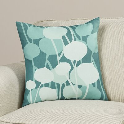 Paterson Seedling Graphic Throw Pillow Size: 18 H x 18 W, Color: Cornflower