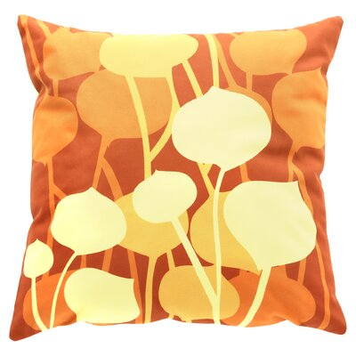 Paterson Seedling Graphic Throw Pillow Size: 18 H x 18 W, Color: Rust