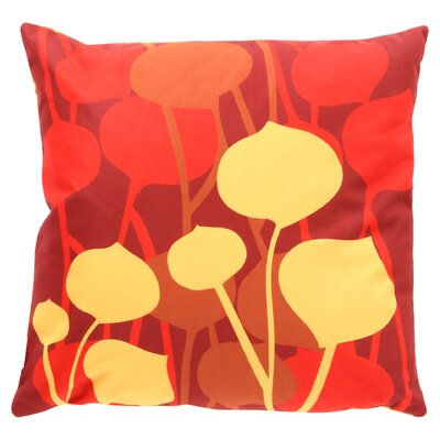 Paterson Seedling Graphic Throw Pillow Size: 18 H x 18 W, Color: Scarlet