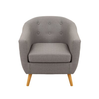 Laurence Barrel Chair Color: Light Gray