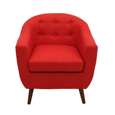 Henley Barrel Chair Color: Red