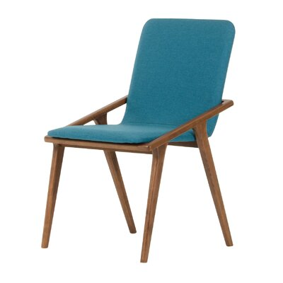 South Bend Parsons Chair Upholstery: Blue