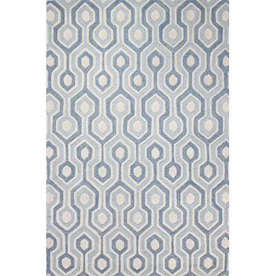 Alder Hand-Tufted Light Blue Area Rug Rug Size: 36 x 56