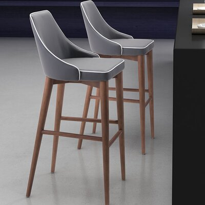 West Covina 29.9 Bar Stool Upholstery: Dark Gray