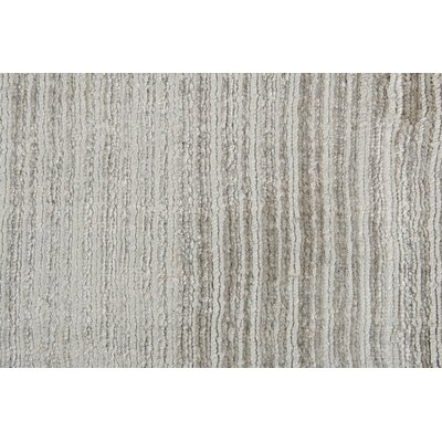 Charing Hand-Woven Gray Area Rug Rug Size: 83 x 116