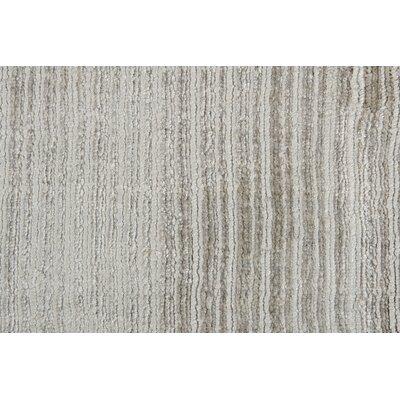 Hand-Woven Gray Area Rug Rug Size: 83 x 116
