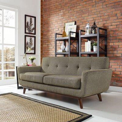 Johnston Tufted Upholstered Sofa Upholstery: Oatmeal