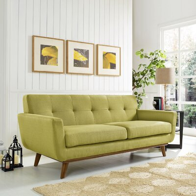 Johnston Tufted Upholstered Sofa Upholstery: Wheatgrass