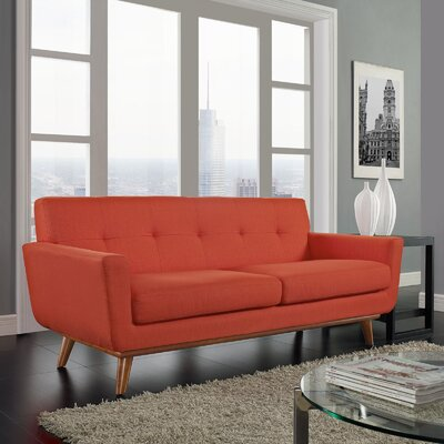 Johnston Tufted Upholstered Sofa Upholstery: Atomic Red