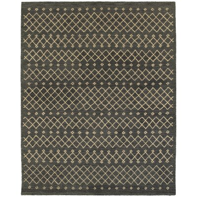 Tacoma Hand-crafted Brown Area Rug Rug Size: 89 x 119