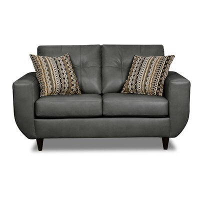 Simmons Upholstery Quarterman Loveseat Upholstery: Seal