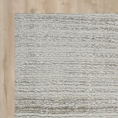 Charing Hand-Woven Gray Area Rug Rug Size: 57 x 79