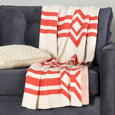 Tulsa Blanket Color: Milk/Coral