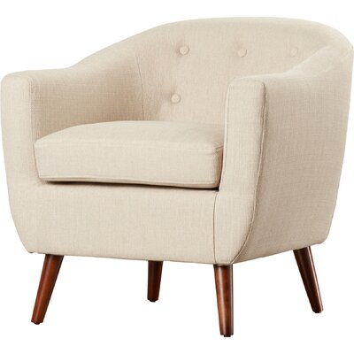 Laurence Barrel Chair Color: Cream