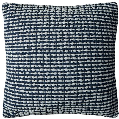 Williams Cotton Pillow Cover Color: Navy
