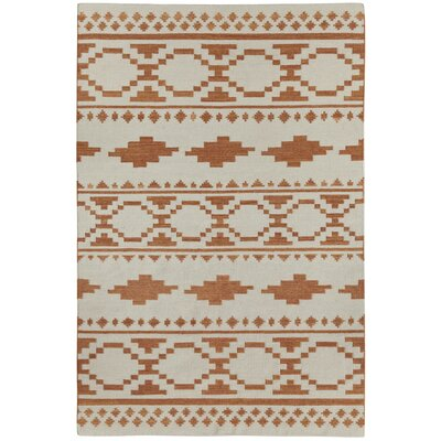 Estio Off-White/Brown Area Rug Rug Size: 7' x 9'