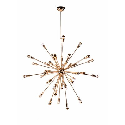 Helmetta 24-Light Sputnik Chandelier Finish: Gold