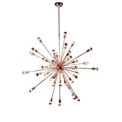 Helmetta 24-Light Sputnik Chandelier Finish: Copper