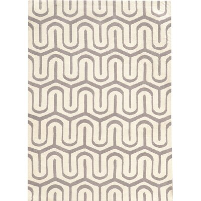 Kobe Hand-Tufted Beige/Gray Area Rug Rug Size: Rectangle 2 x 3