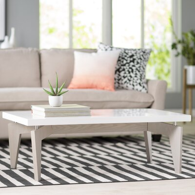 Kelly Coffee Table Base Finish: Grey