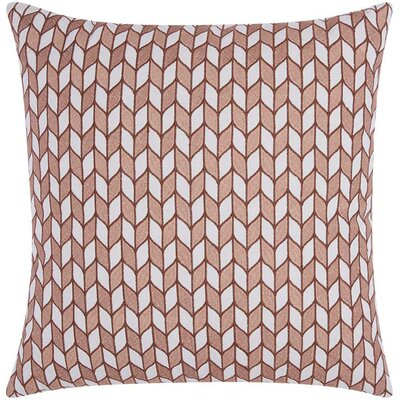 Hila Block Chevron Cotton Throw Pillow Color: Rose Gold