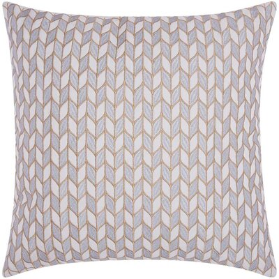 Hila Block Chevron Cotton Throw Pillow Color: Silver Gold