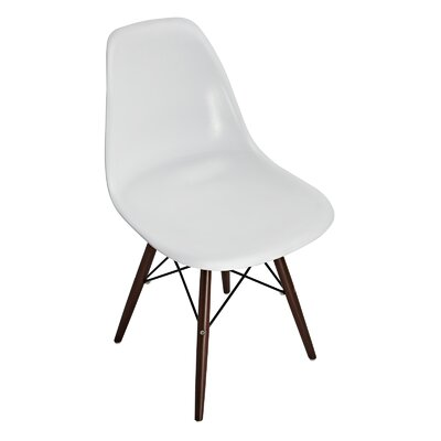 Mohnton Solid Back Side Chair (Set of 2) Finish: Brown