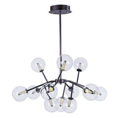 Ledo 12-Light Foyer Pendant Finish: Bronze