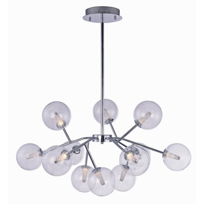 Ledo 12-Light Foyer Pendant Finish: Polished Chrome