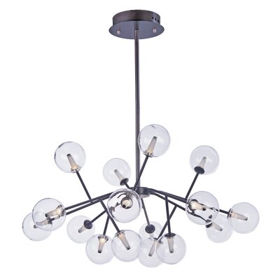 Ledo 16-Light Foyer Pendant Finish: Bronze