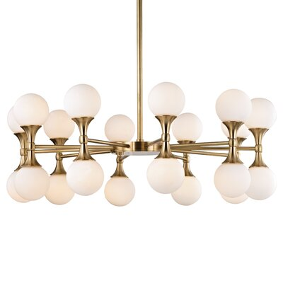 Escena 20-Light Sputnik Chandelier Finish: Aged Brass