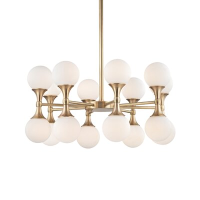 Escena 16-Light Sputnik Chandelier Finish: Aged Brass