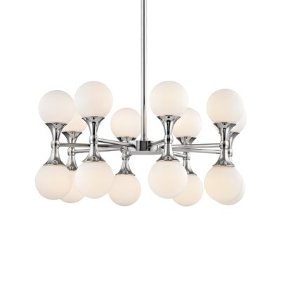 Escena 16-Light Sputnik Chandelier Finish: Polished Chrome