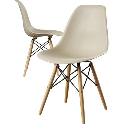 Cameron Side Chair Upholstery: Beige