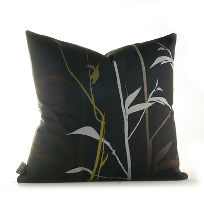 Paterson Prairie Throw Pillow Size: 18 x 18, Color: Charcoal and Olive