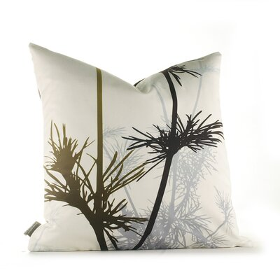 Paterson Prairie Throw Pillow Size: 18 x 18, Color: Olive and Charcoal