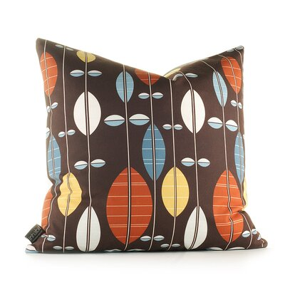 Paterson Carousel Throw Pillow Size: 13 H x 24 W, Color: Chocolate / Cornflower