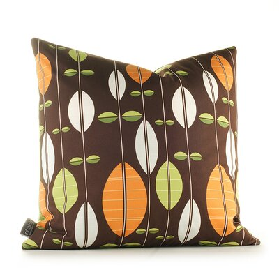 Paterson Carousel Throw Pillow Size: 13 H x 24 W, Color: Chocolate / Sunshine