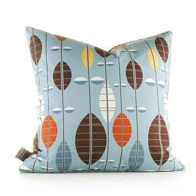 Paterson Carousel Throw Pillow Size: 18 H x 18 W, Color: Cornflower
