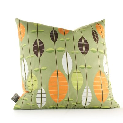 Paterson Carousel Throw Pillow Size: 18 H x 18 W, Color: Grass