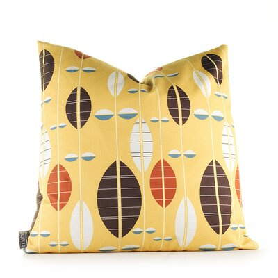 Paterson Carousel Throw Pillow Size: 13 H x 24 W, Color: Sunflower