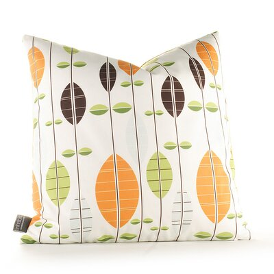 Paterson Carousel Throw Pillow Size: 18 H x 18 W, Color: White / Sunshine