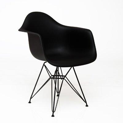 Junia Arm Chair Finish: Black