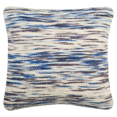 Xander Tight Weave Throw Pillow Color: Blue