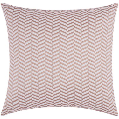 Newman Alternative Chevron Throw Pillow Color: Rose Gold