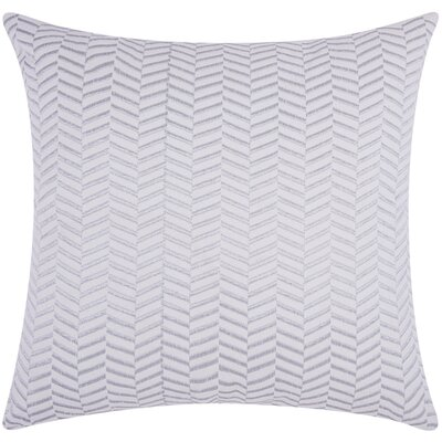 Newman Alternative Chevron Throw Pillow Color: Silver