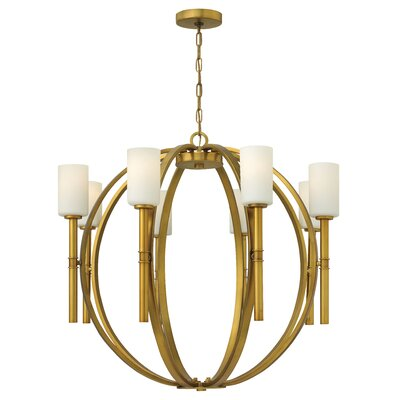 Dana 8-Light Shaded Chandelier Finish: Polished Nickel