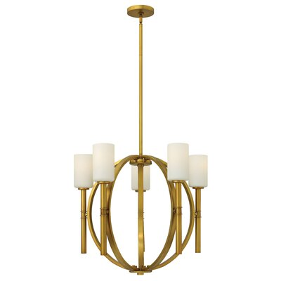 Dana 5-Light Shaded Chandelier Finish: Vintage Brass