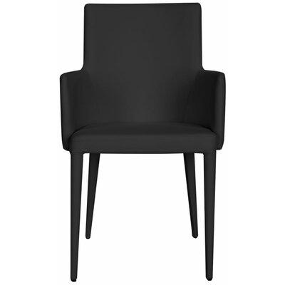 Lebron Arm Chair Upholstery: Black